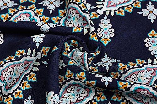 Bohemian Blumen 4 vestito appendiabiti spiaggia Mini tunica nbsp;Bracciale kormei Scollo Blau Rotondo della 3 Donna da Abito Unxwpnq4H1