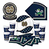 Notre Dame Fighting Irish Party Pack - Plates, Cups, Napkins - Serves 8