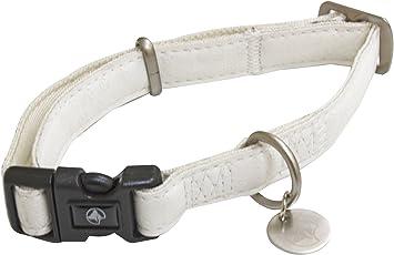 collier pour chien cuir blanc