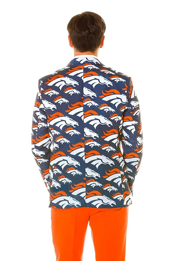 Denver Broncos chaqueta y corbata, Azul y anaranjado: Amazon.es ...