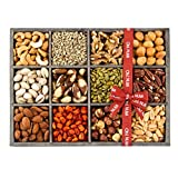 Mixed Nuts and Seeds Holiday Gift Tray 12 Variety Gift Basket, Freshly Roasted Snack Healthy Gift Box - Oh! Nuts (Holiday Gift Tray)