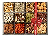 Gift Baskets, Mixed Nuts Gift Baskets and Seeds Holiday Gift Tray 12 Variety Gift Baskets, Freshly Roasted Snack Healthy Gift Box – Oh! Nuts (Holiday Gift Tray)
