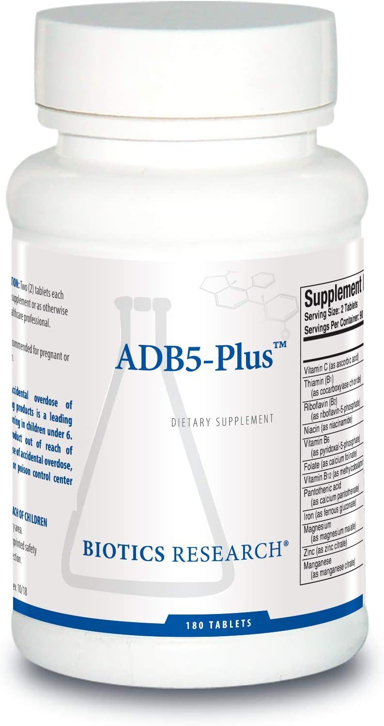 ADB5-Plus Adrenal Support Supplement – by Biotics Research 180 Tablets