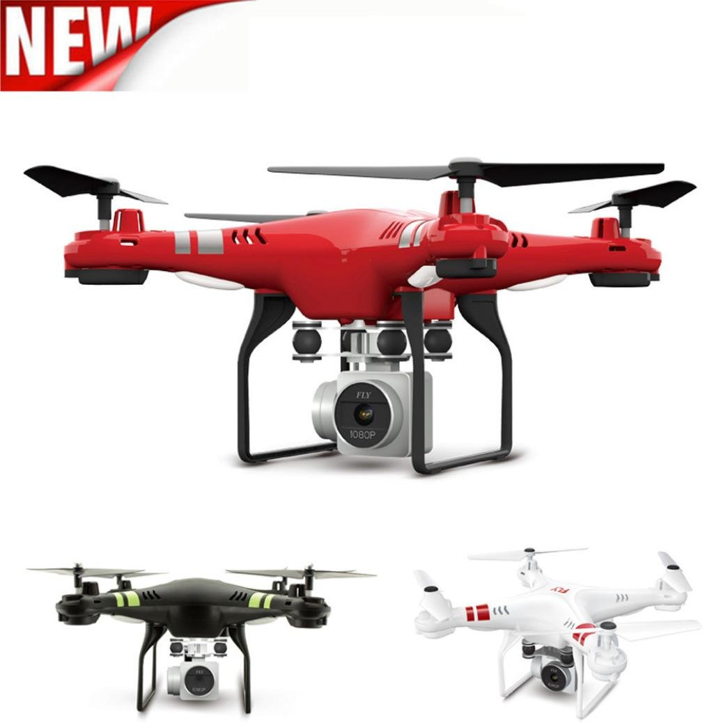 Evryone Love HD Camera Helicopter ,POCCIOL 2.4G Altitude Hold HD Camera Quadcopter RC Drone WiFi FPV Live Helicopter Hover (Red)