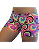 "GemGear 60's Swirl Print 4"" Inseam Compression Shorts"