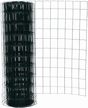 Malla metálica galvanizada Malla Alambre Valla Jardín Longitud 25 m altura 100 cm ancho eslabones 7,5 x10 cm: Amazon.es: Bricolaje y herramientas