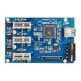 KKmoon USB 3.0 PCI-E PCI Express 1X 3-Port Expander PCI-E 1X 1 to 3 Ports Riser Card Express Card Adapter Multiplier for Mining