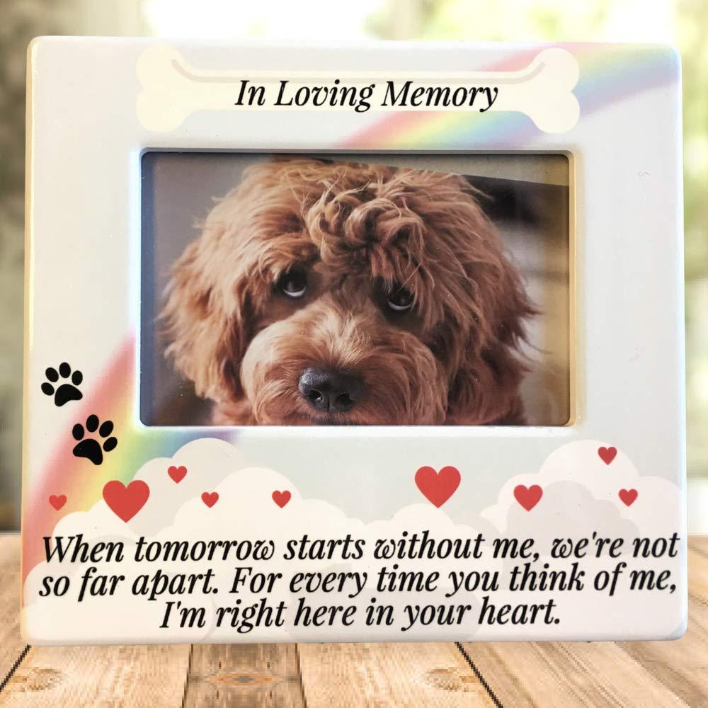 Amazon.com : Banberry Designs Dog Memorial Frame - Loss of a Pet ...