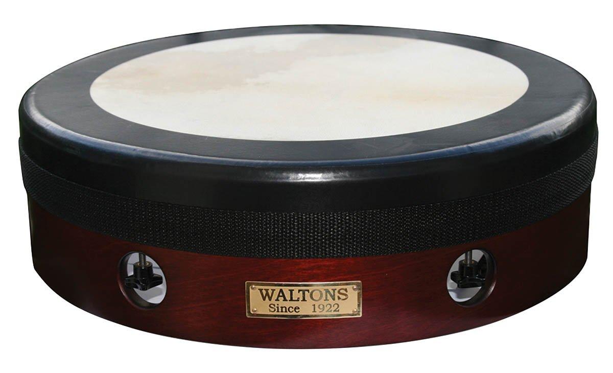 Waltons T100 14-Inch Tunetech Bodhran Tunable Brown with Black Rim