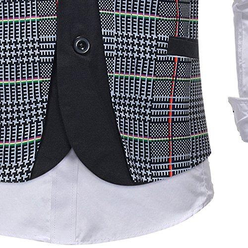 Men Coats Hot WEUIE Men Casual Printed Sleeveless Jacket Coat British Suit Vest Blouse (5XL, Gray) by WEUIE (Image #6)