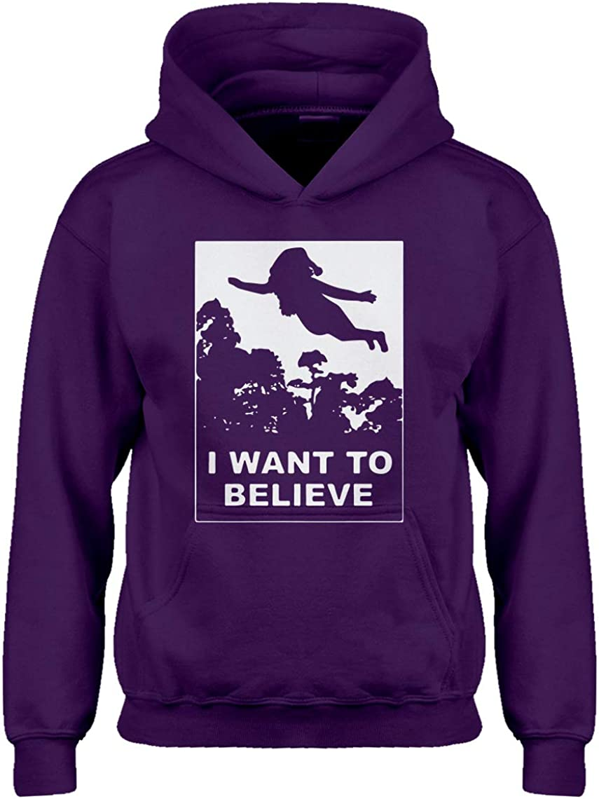 Indica Plateau I Want to Believe Human Holiday Hoodie for Kids