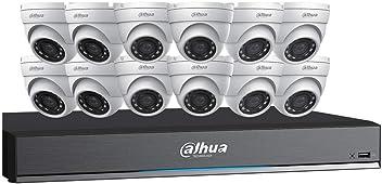 Dahua HDCVI Kit: 16-Ch, 4K Penta-Brid DVR + 12 x