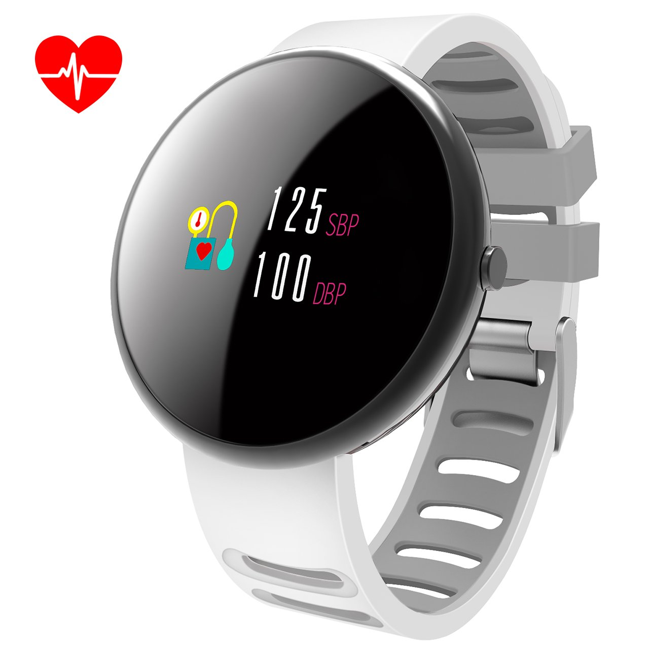 COSSCCI Smart Watches Men Women Fitness Tracker with Heart Rate Monitor,IP67 Waterproof Activity Tracker with Calorie Pedometer Sleep Monitor for Android iPhone (White)
