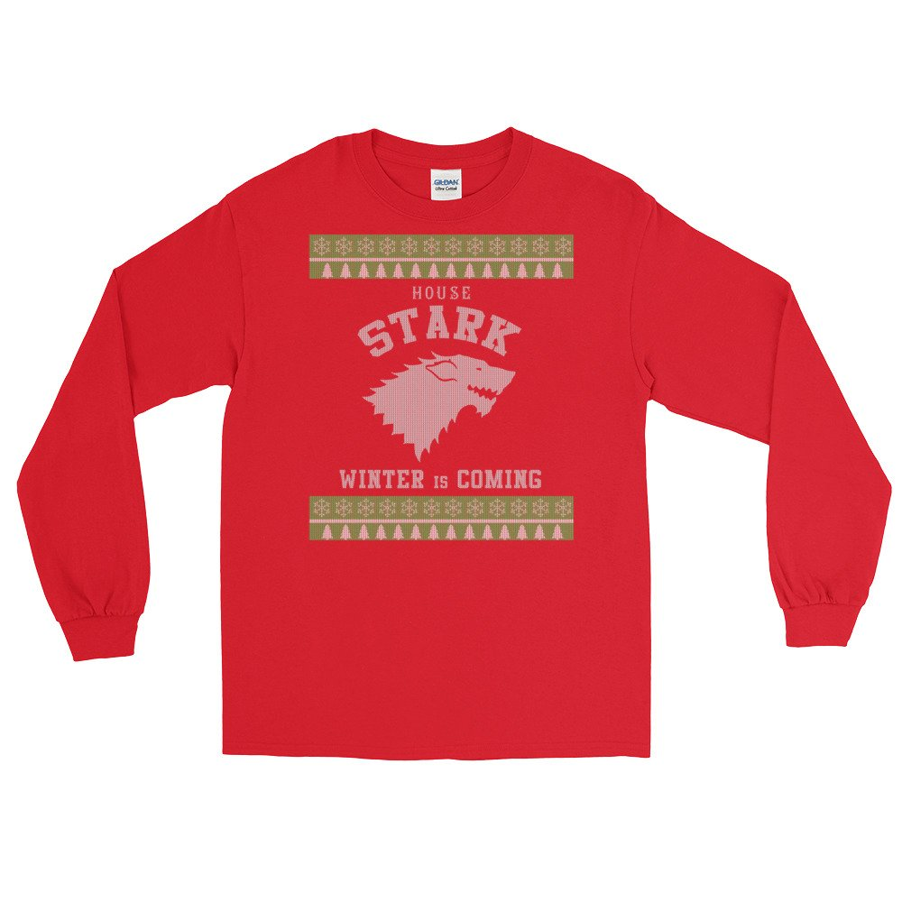 Merry Chistmas House Stark Winter Is Coming Long Sleeve T-Shirt