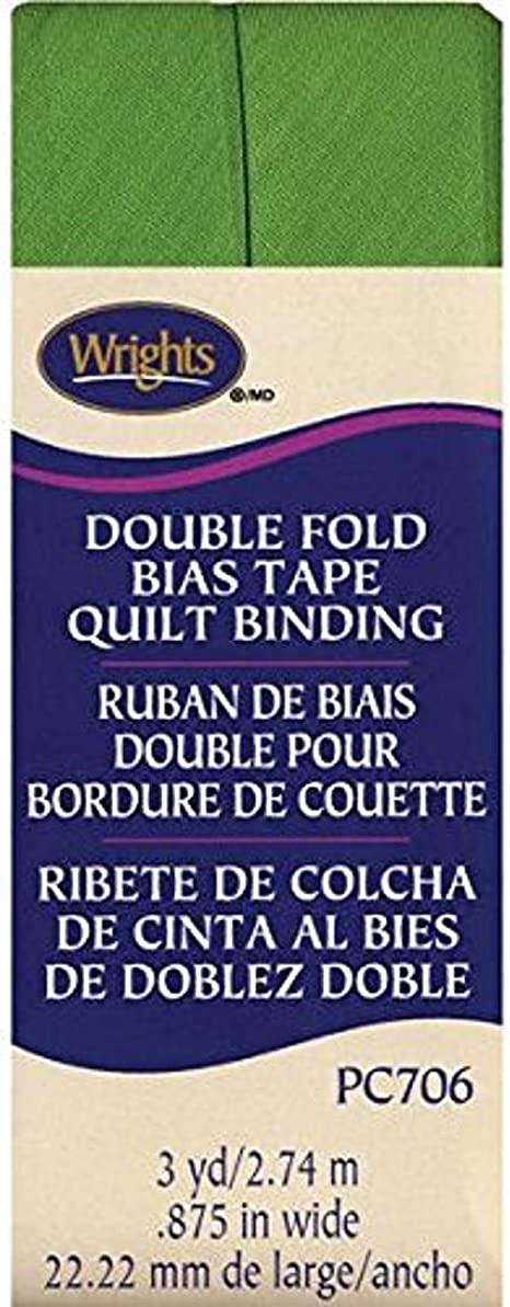 Wrights Double Fold Quilt Binding Leaf Green 7//8 by 3-Yard