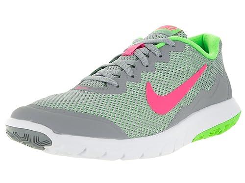 Nike Men s Flex Experience RN (Wolf Grey Hyper Pink Vltg Grn White) Running  Shoe 380c914f80