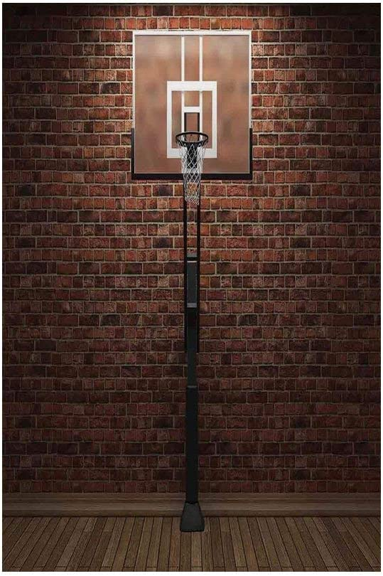 Amazon Com Polyester Garden Flag Outdoor Flag House Flag Banner Sports Decor Old Brick Wall And Basketball Hoop Rim Indoor Training Exercising Stadium Picture Print Brown For Wedding Anniversary Home Outdoor Gar
