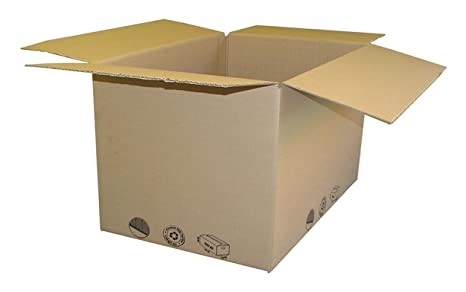 Cajas de cartón monoonda de 21 x 21 x 13 cm, lote de 5 unidades