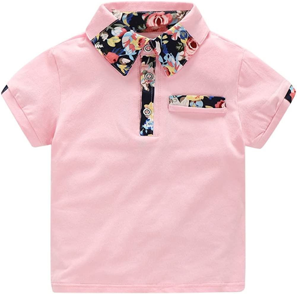 Minuya Boys Clothes Set Summer Beach Holiday Style Floral Pattern Shirt Tops Shorts Clothes Outfits Set 2 Pcs