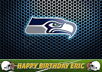 Seattle Seahawks Nfl Edible Cake Topper Personalized Birthday 1 2