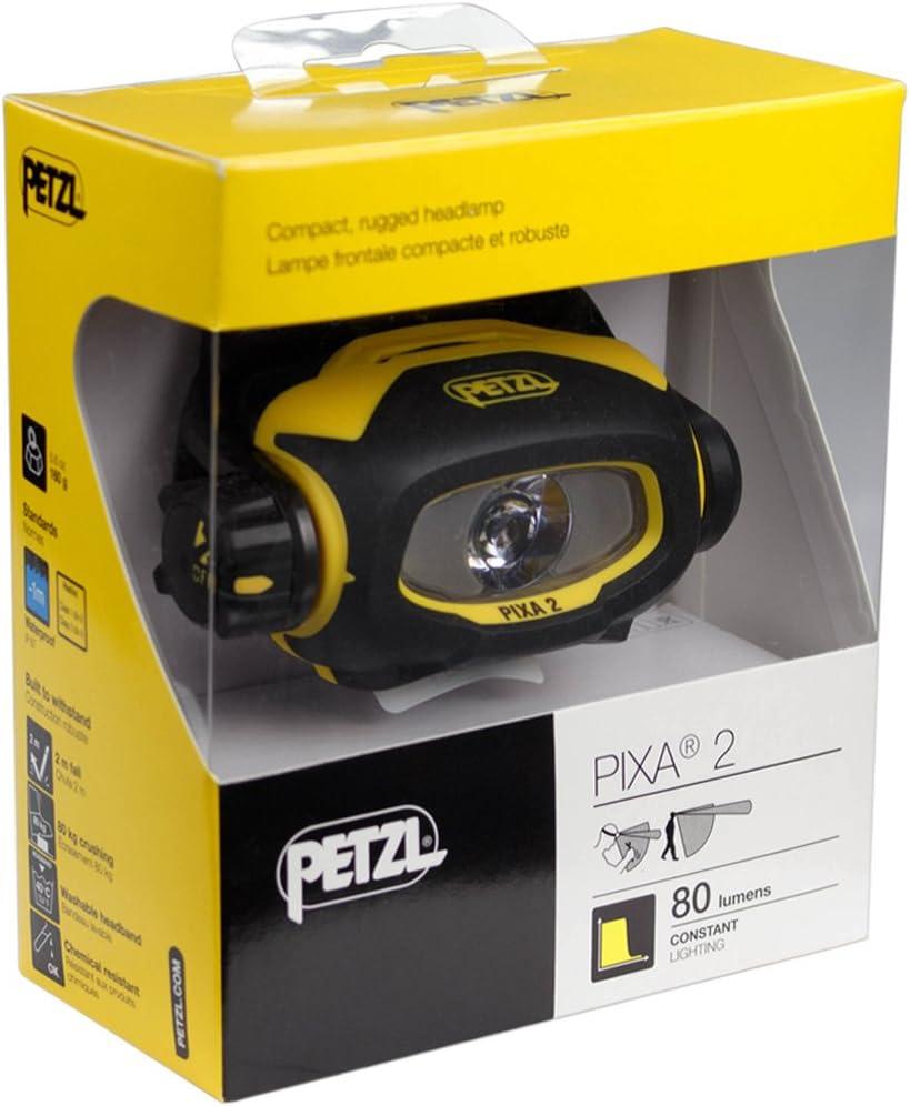 Noir et Jaune PETZL Lampe Frontale PIXA 2 Unique