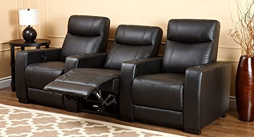 Grand Modern 3-piece Dark Black Top Grain Leather Power Media Room Theater Seating Recliners & Amazon.com: Grand Modern 3-piece Dark Black Top Grain Leather ... islam-shia.org