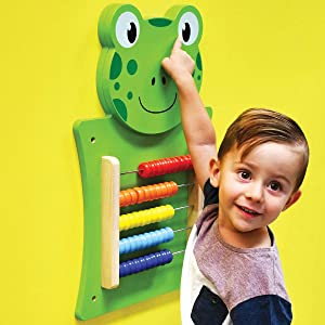 LEARNING ADVANTAGE Frog Activity Wall Panel - 18M+ - in Home Learning Activity Center - Wall-Mounted Toy for Kids - Decor for Bedrooms and Play Areas