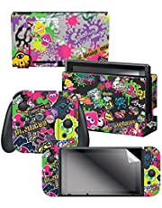 "Controller Gear Nintendo Switch Skin & Screen Protector Set, Officially Licensed By Nintendo - Splatoon 2 ""Stick Em' Up"" - Nintendo Switch"