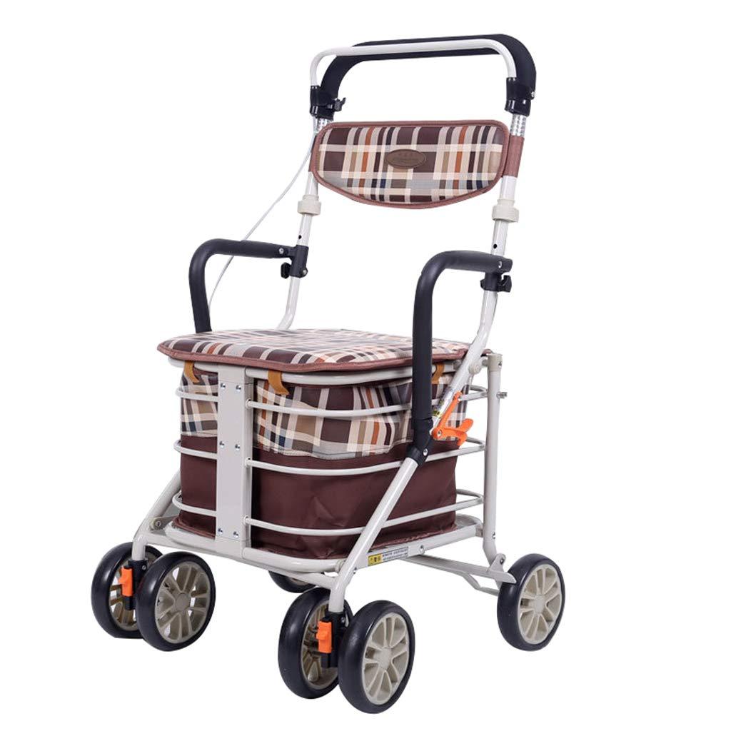 Walk Aid Rollator de Aluminio con Cuatro Ruedas, Ayuda para ...
