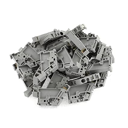 Amazon com: 50Pcs 35mm DIN Rail Terminal Block End Stopper