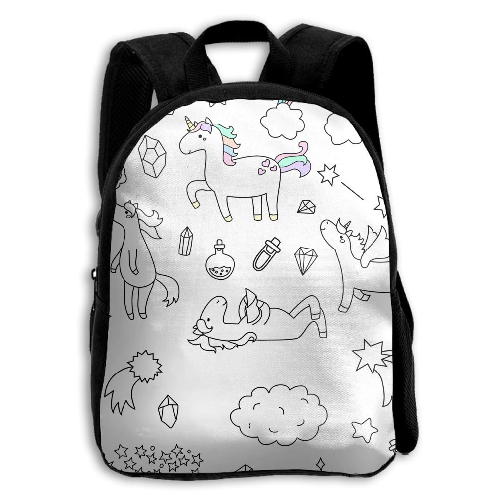 The Comicユニコーン仮装PrintedスクールバックパックShoulders Bag for Boys Girls   B078X81CBW