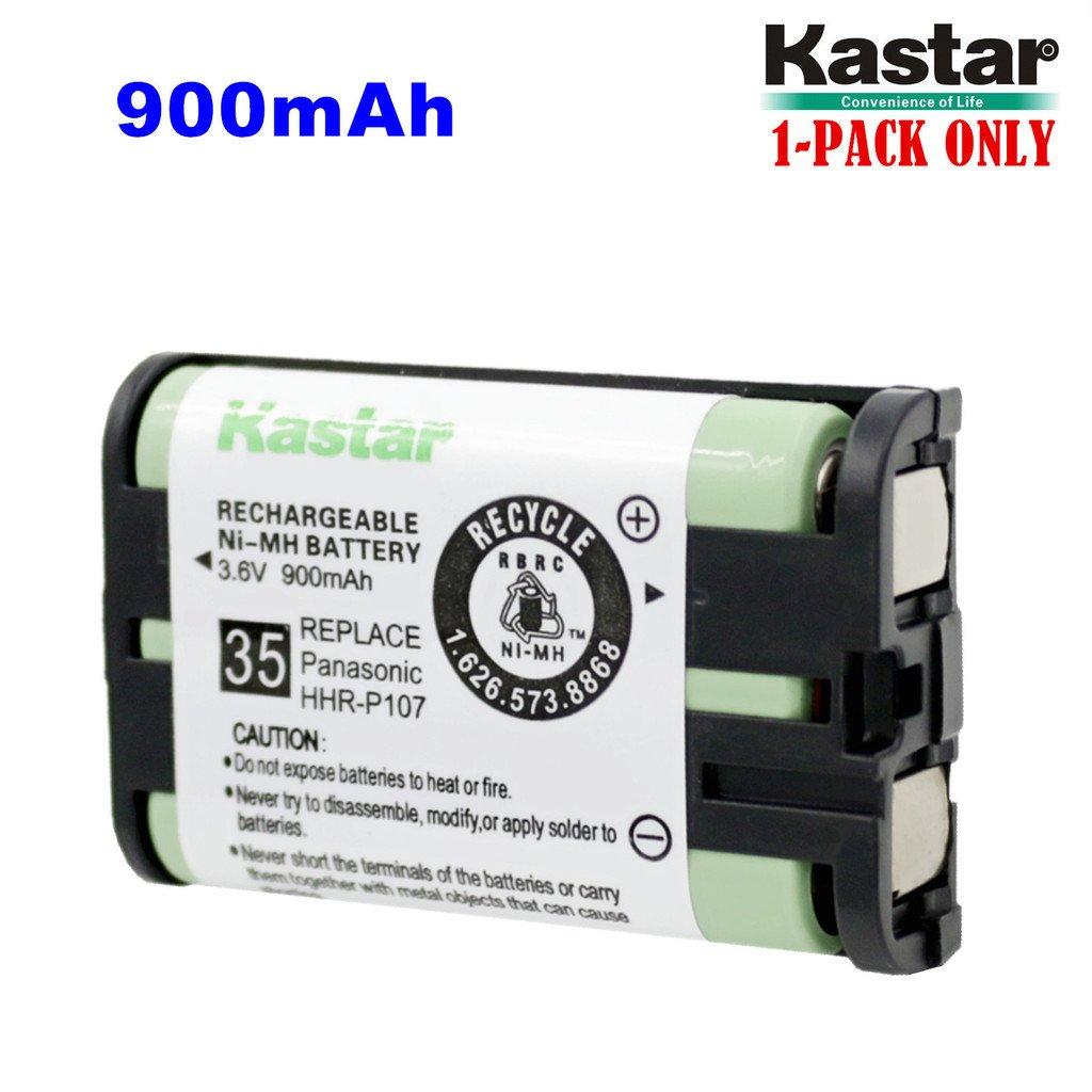 Kastar hhr-p107電池1パック、タイプ35、ni - mh充電式コードレス電話バッテリー3.6 V 900 mAh、交換用for Panasonic hhr-p107、hhr-p107 a、hhr-p107 a / 1b、bb-gt1500、bb-gt1540、bb-gt1540b、bb-gta150、bb-gta150b、bb-gt1500b、kx-tg6021 m、kx-tg6022b、kx-tg6023 m、kx-tg6051 m、kx-tg6052b、kx-tg6052pk、kx-tg6053pk、kx-tg6053s、kx-tg6054b、kx-tg6054pk、kx-tg6071、kx-tg6071 m、kx-tg6072   B00X09PA0S