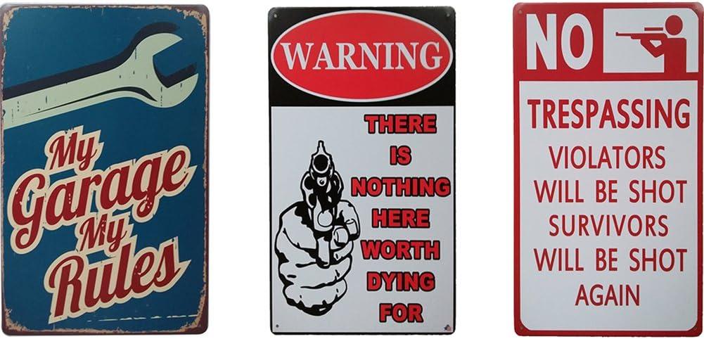 Vintage Bar Metal Tin Signs Retro Club Coffee Bar Wall Decor Beer Club Warning