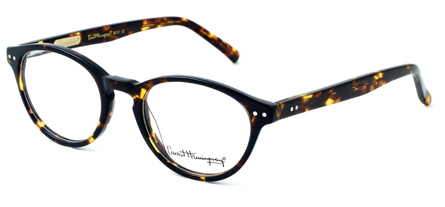 f2c1bc9215 Amazon.com  Ernest Hemingway Eyeglass Collection 4612 in Leopard   Demo  Lens  Clothing