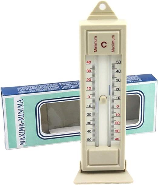 JohnJohnsen Termómetro máximo y mínimo Interior al Aire Libre Jardín Invernadero Monitor de Temperatura de Pared -40 a 50 Grados termómetro: Amazon.es: Jardín