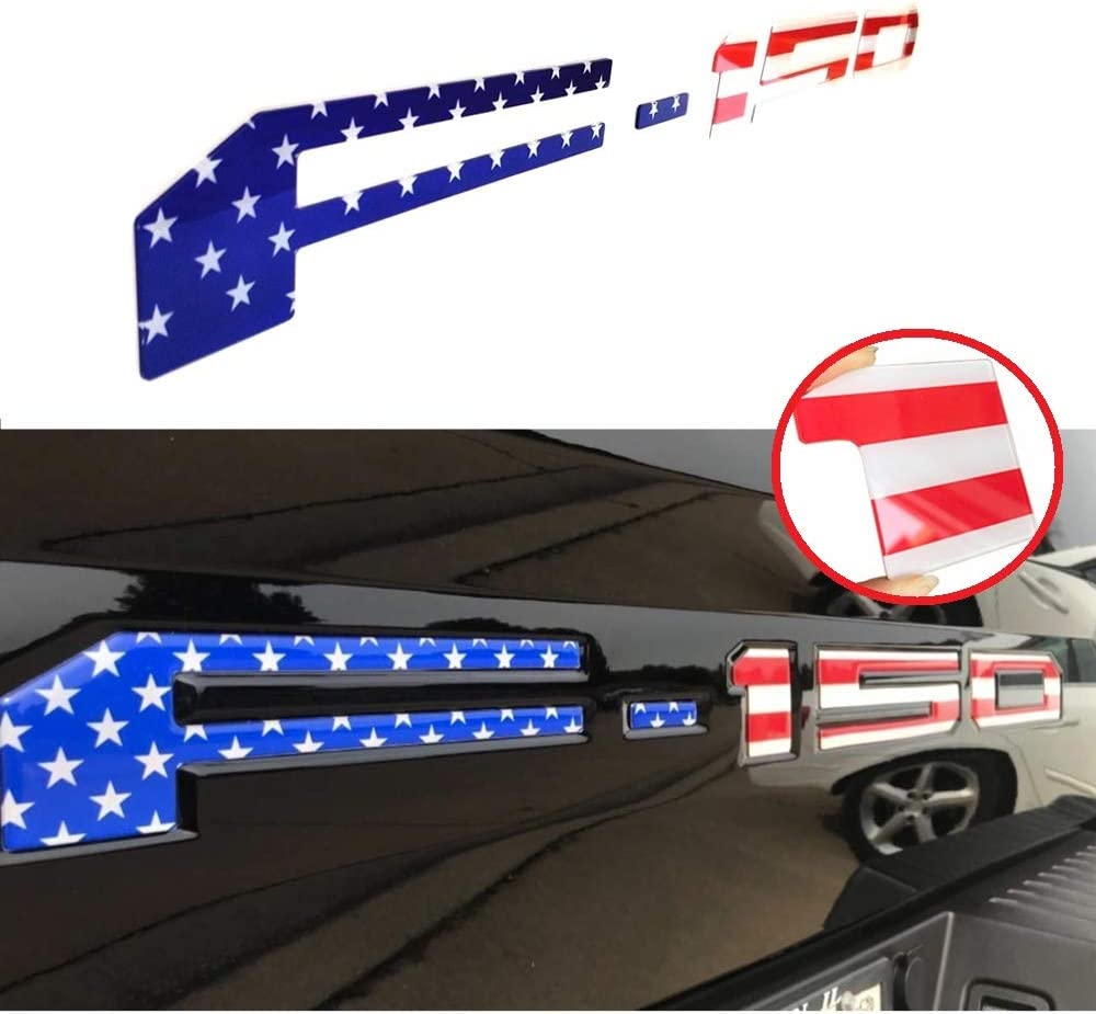 Tailgate Emblems Inserts Letters Gloss Black 3D Raised /& 3M Adhesive Decals Letters Tailgate Inserts Letters for F150 2018 2019 2020