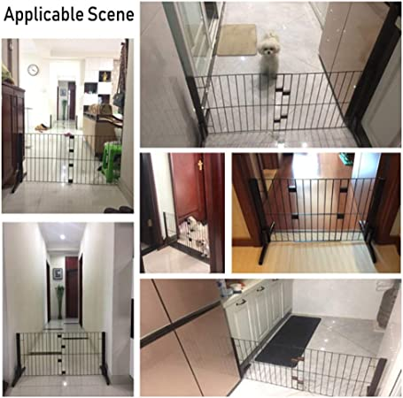 Puertas de bebé Puertas de Madera para Perros Mascotas con Puerta de Acceso, Puertas de 20 de Madera para Gatos Independientes para pasillos de escaleras, Ancho Ajustable de 23 a 41