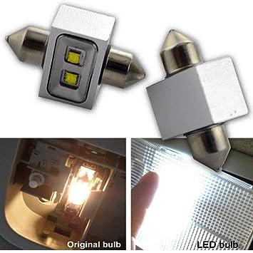 Ruiandsion 2 bombillas LED Canbus Festoon 31 mm 12 V CREE 2SMD 10 W LED para