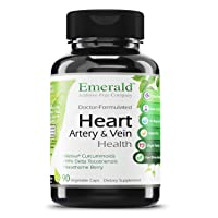 Heart, Artery & Vein Health - with Hawthorn Berry & Meriva Phytosome - High Absorption, Supports Cardiovascular Health, Helps Regulate Blood Pressure - Emerald Labs - 90 Vegetable Capsules