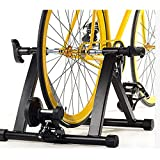 Eosphorus Bicycle Trainer Magnetic Resistance Bike Trainer Stand | Indoor Riding Exercise Portable Bicycle Training Quiet Roller Black