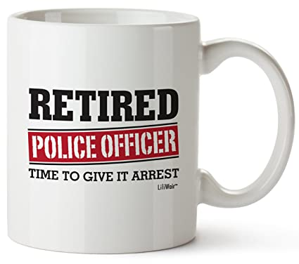 37124606b6f8 Retired Police Officer Gifts Mug Funny Christmas Retiring Retirement Gag  Gifts for Women Men Dad Mom