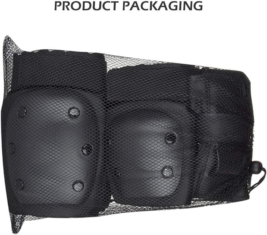OonlyoO 6 Pcs Knee Elbow Pads Wrist Guards for Skateboarding Adults Kids Knee Pads Elbow Pads Wrist Pads Set Protective Gear Set for Bike Scooter Skating Rollerblading Riding