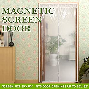 Transparent Magnetic Screen Door Curtain Prevent Air Conditioning Loss Help Saving Electricity \u0026 MoneyEnjoy Cool Summer \u0026 Warm WinterThermal and Insulated ...