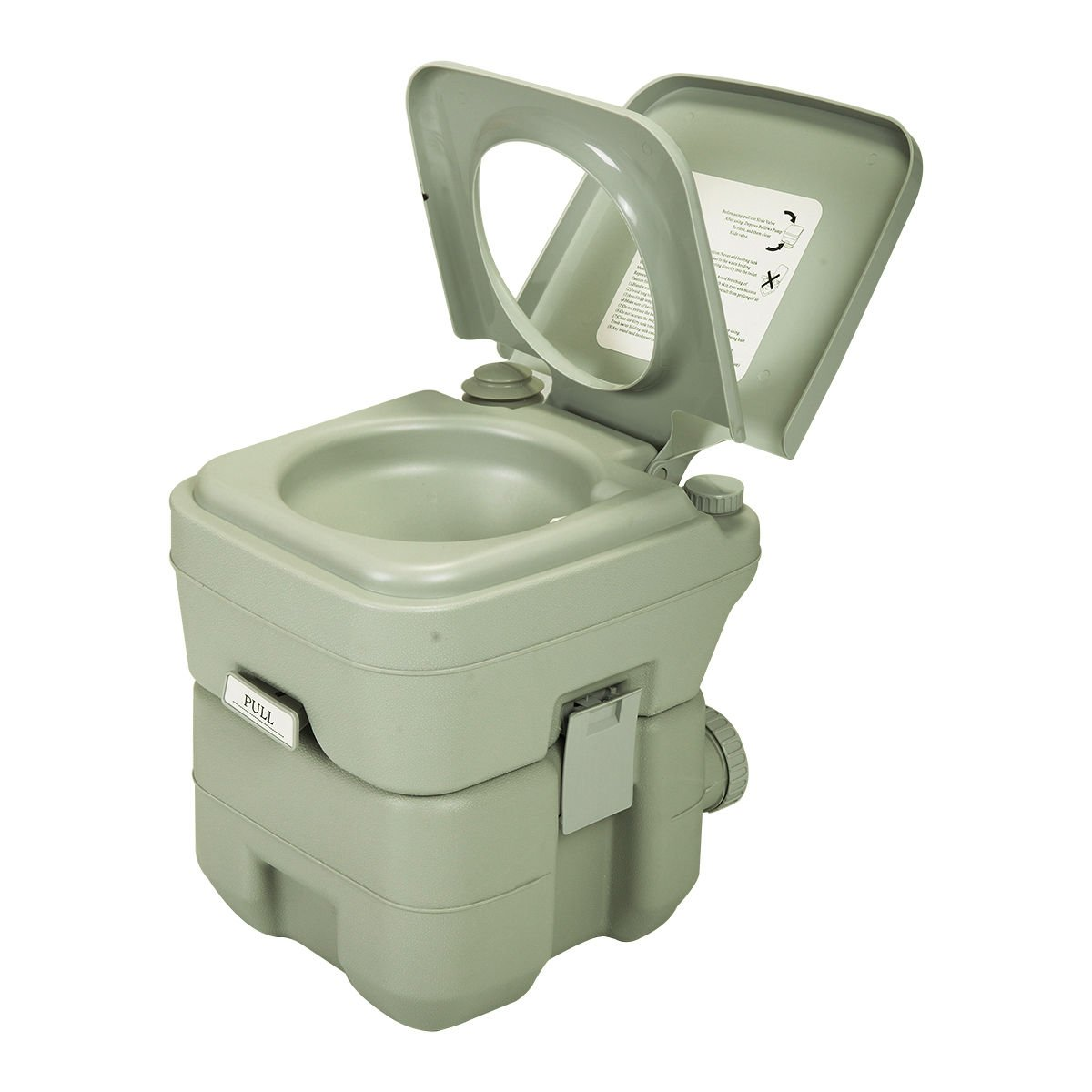 Good concept Portable Toilet Potty Travel 5 Gallon 20L Camping Outdoor Indoor Commode Bathroom Folding