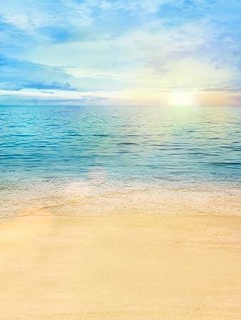 amazon スカイブルービーチテーマbackdrop写真美しい日の出風景海背景