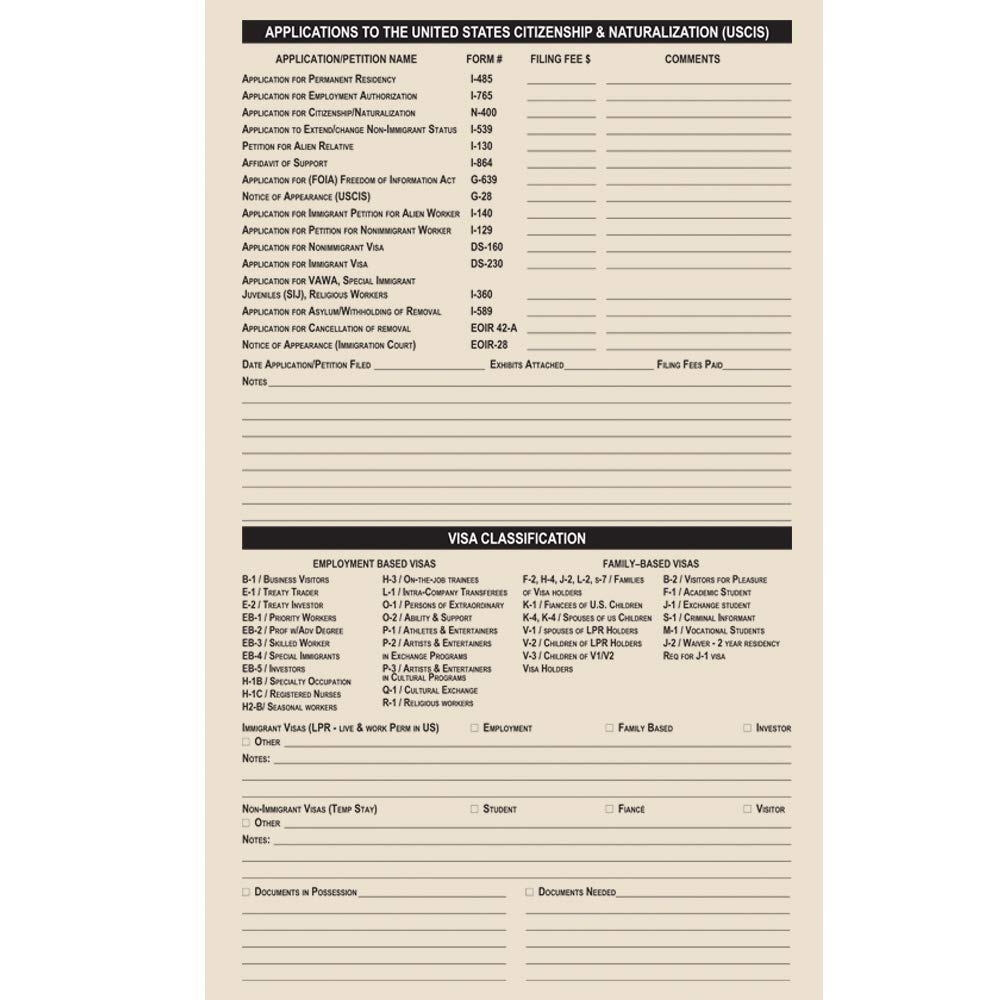 Blumberg Manila Case File Folders (Immigration Case, Legal 9 1/2