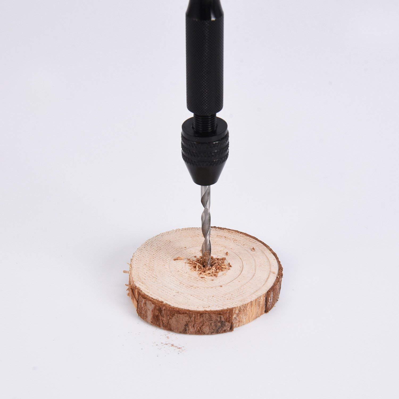 Perceuse /à Main 26 Pi/èces Mini micro en Alliage Daluminium Jeu de forets avec Forets /à torsion pour Les /écrous Bijoux en Plastique de Sculpture Sur Bois