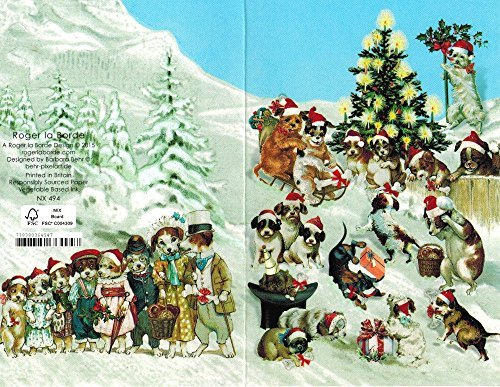 Roger la Borde Dogs in the Snow Boxed Christmas -