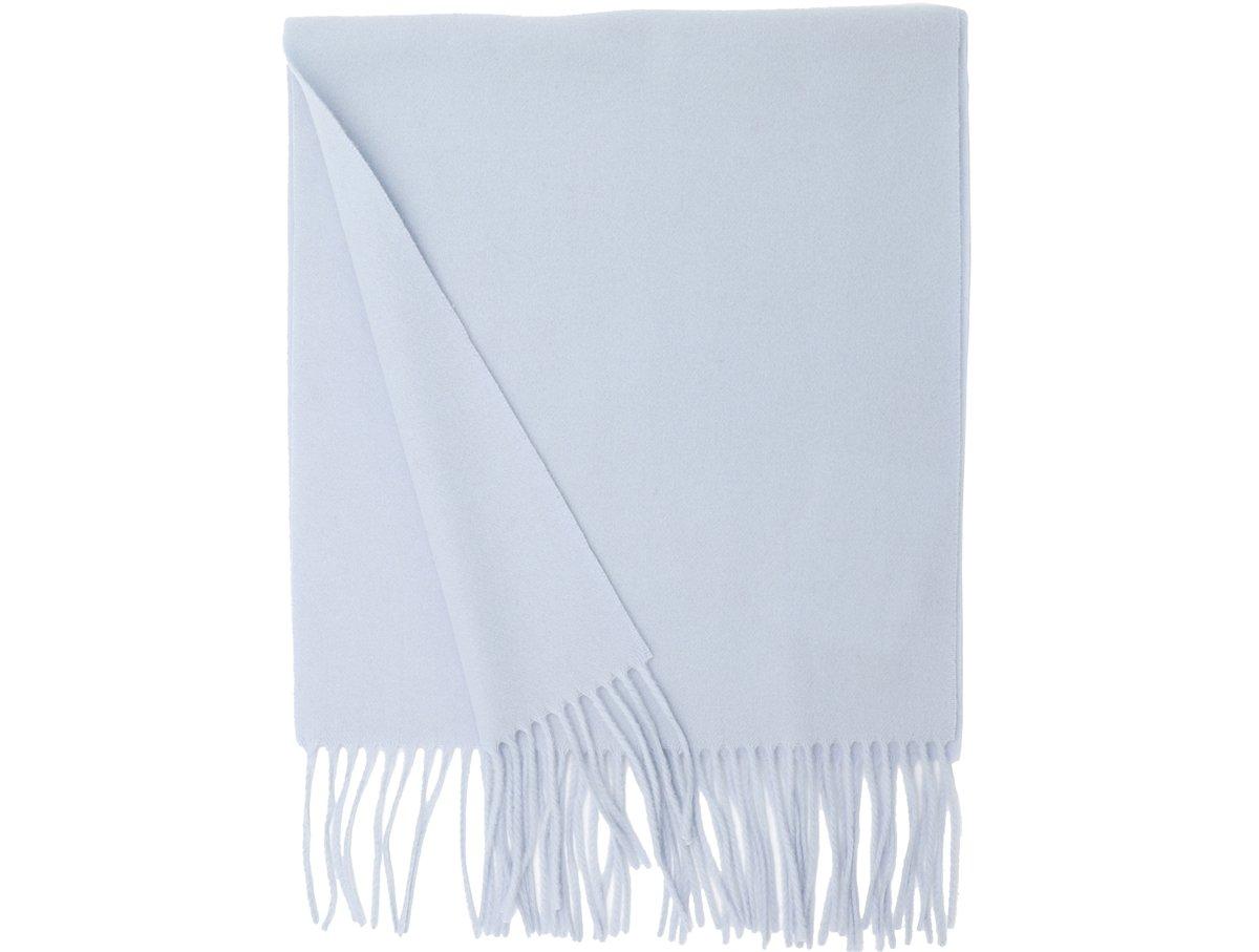 MA.AL.BI. Fine Italian Light Blue Wool Scarf 15'' x 71''