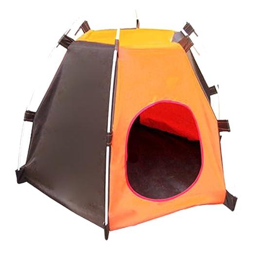 Portátil plegable Camping para mascotas perro gato tienda casa refugio prueba UV protección contra la humedad para interiores al aire libre: Amazon.es: ...